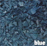 blue rubber mulch in Illinois