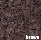 brown rubber mulch in Illinois